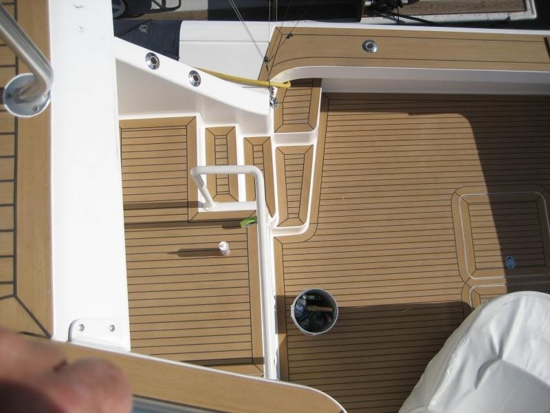 beautiful teak deck for boat