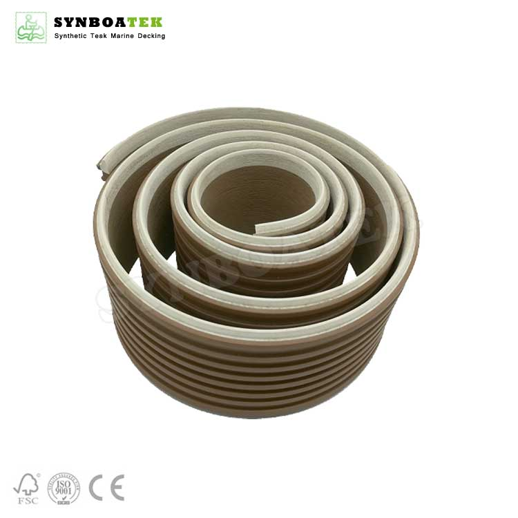 QZ-EW Anti-Slip Synthetic Teak PVC Deck