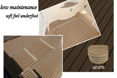 New Synthetic Teak Boat Deck Keeps Feet Cooler