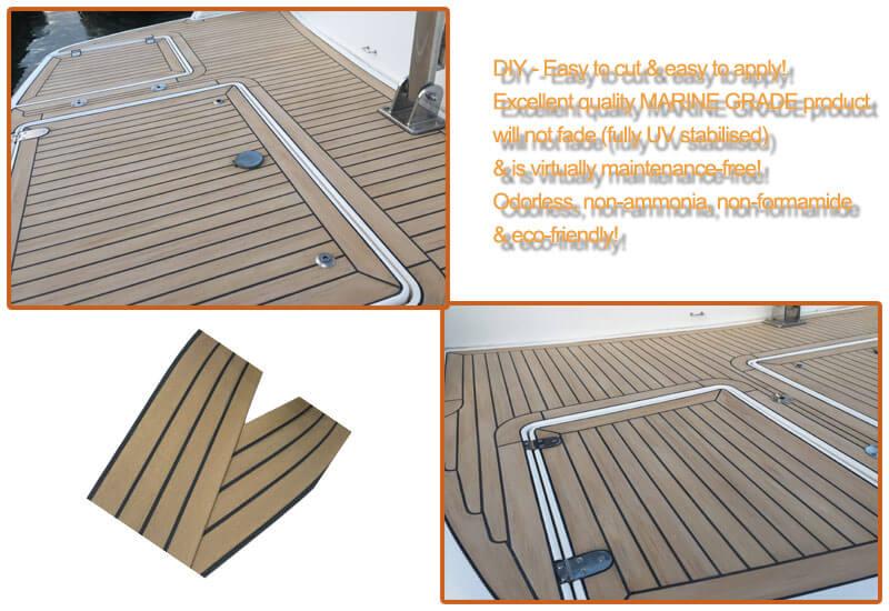SYNBOATEK synthetic teak deck